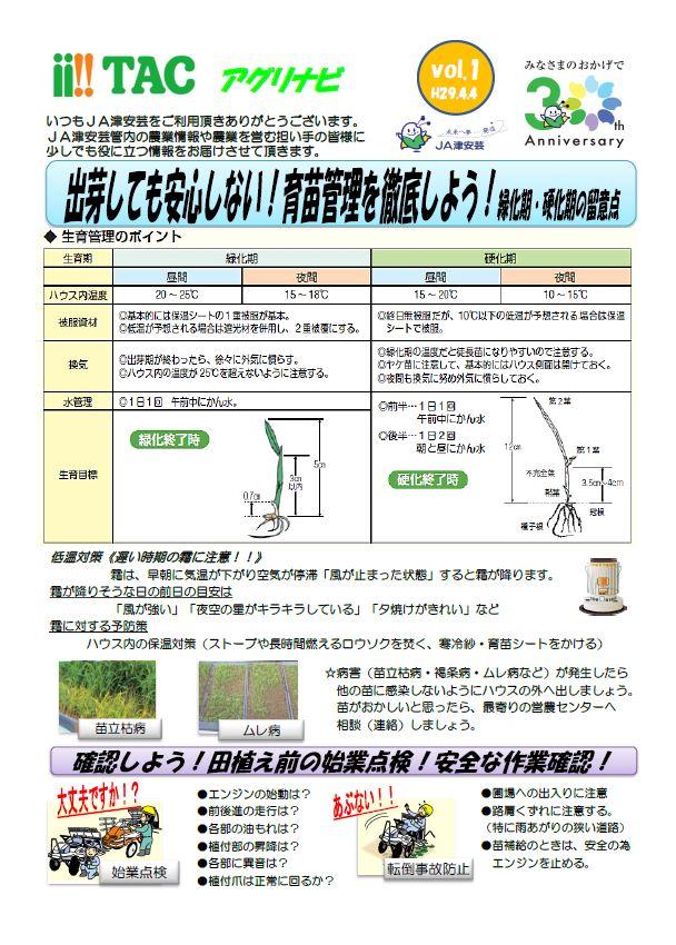 営農情報 | 農業 | JA津安芸