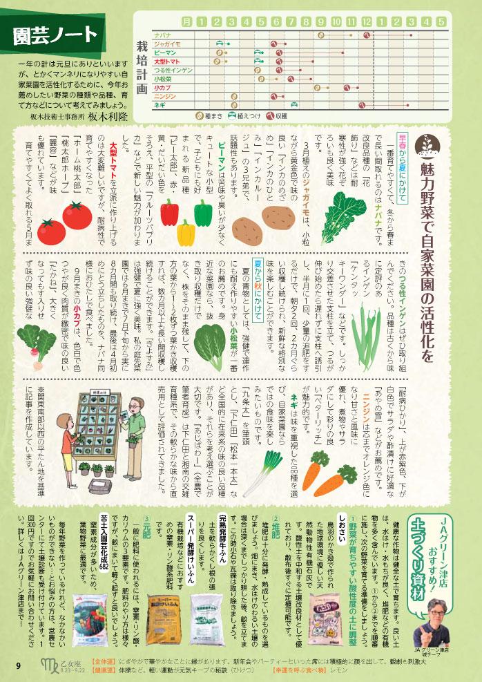 魅力野菜で自家菜園の活性化を